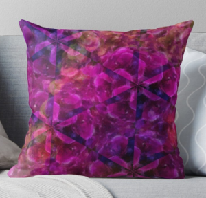 Pink and Purple Stars on Throw Pillow