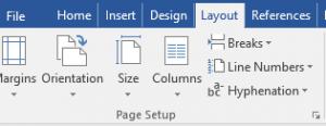 Microsoft Word Layout Formatting