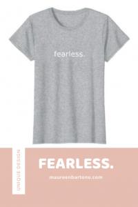 fearless. Gray T-Shirt
